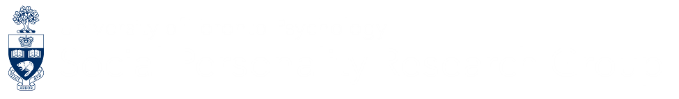SPRG: Social Personality Research Group - University of Toronto Psychology